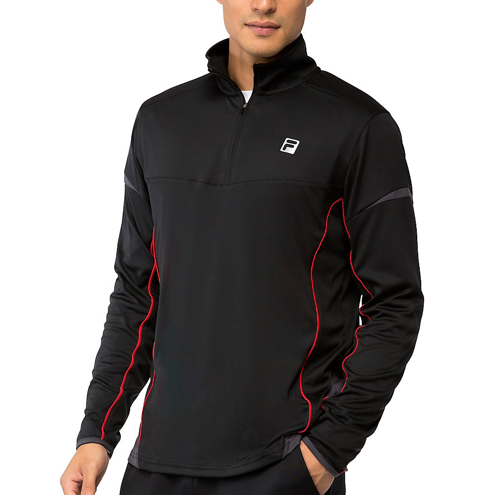 adrenaline quarter zip top in black