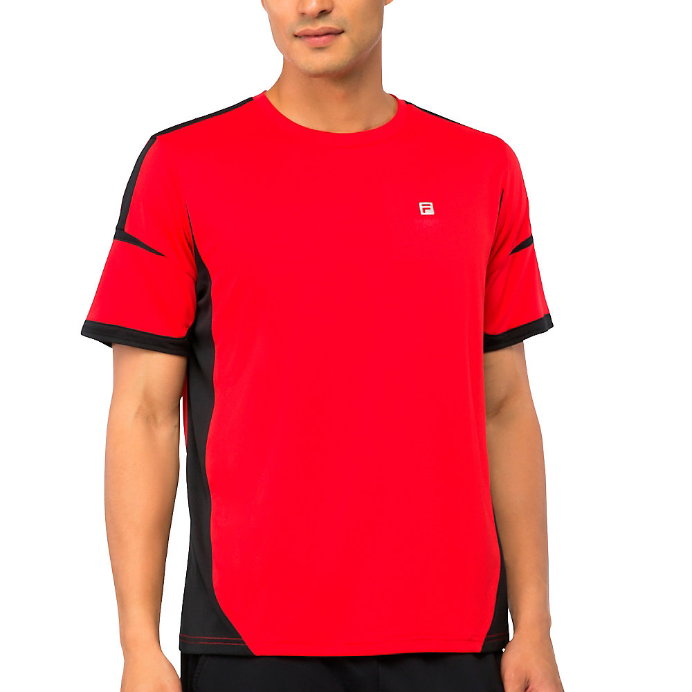 adrenaline jacquard crew in red