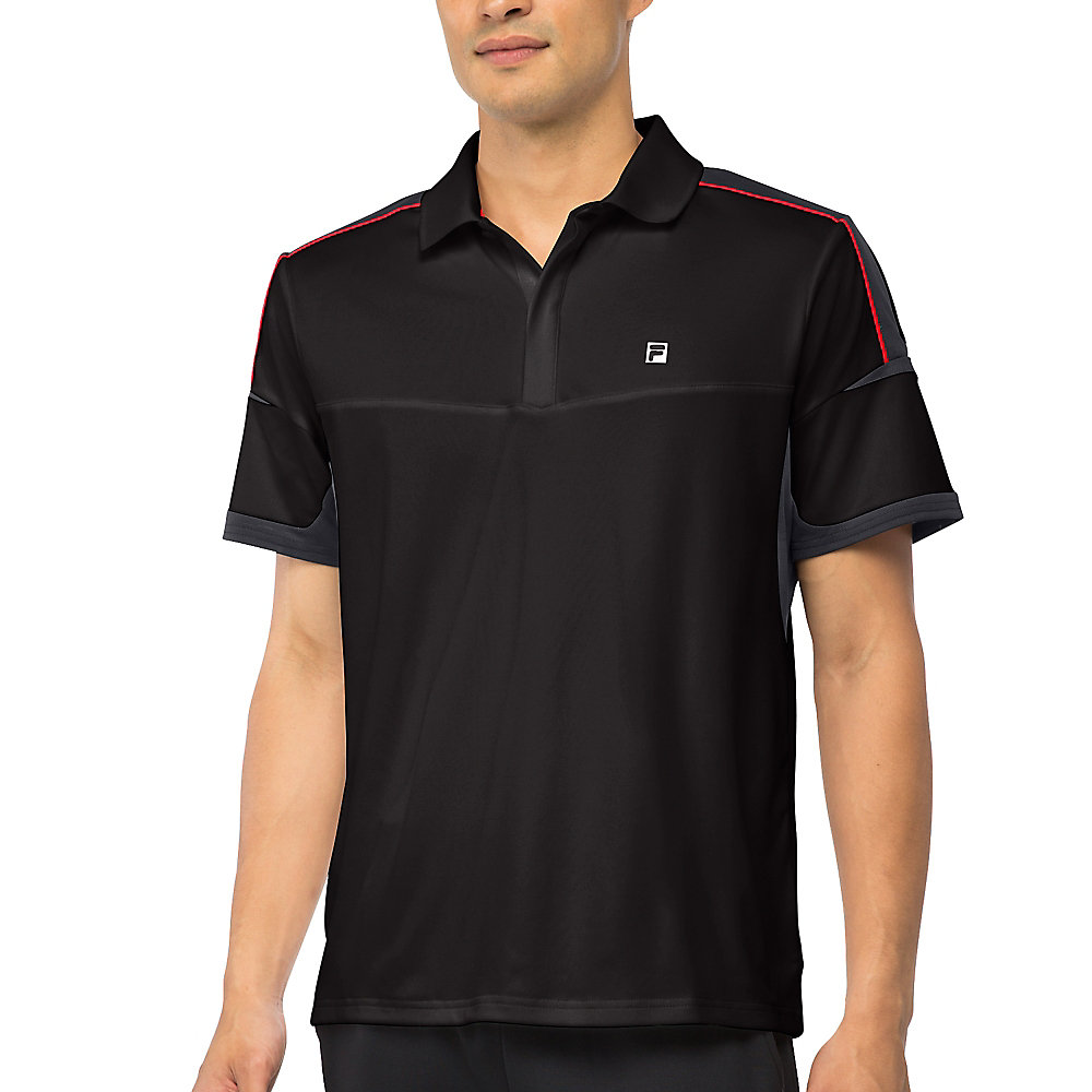 adrenaline polo in black