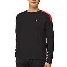 adrenaline long sleeve top in black