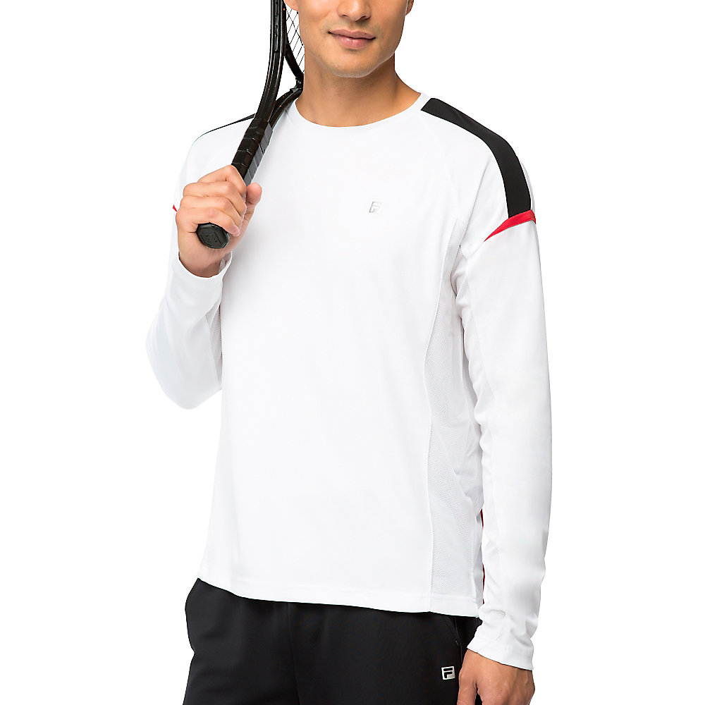 adrenaline long sleeve top in white