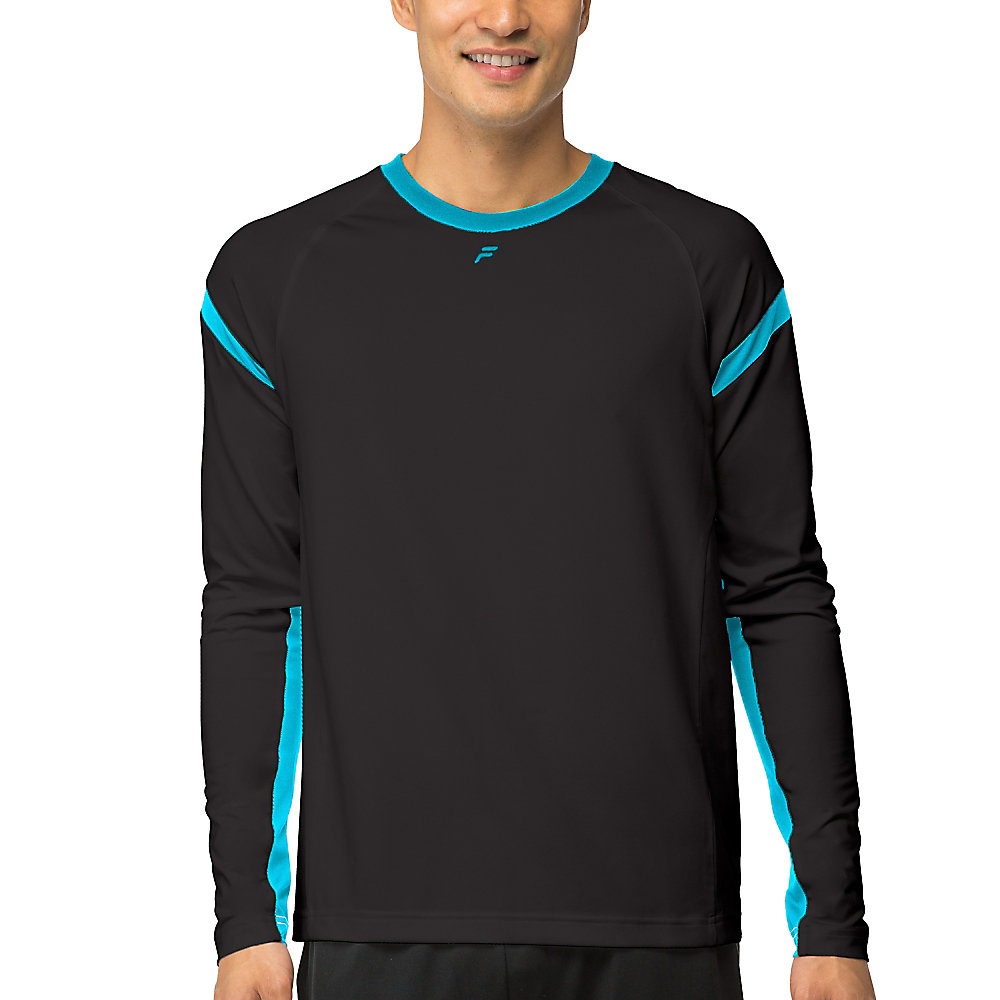 platinum long sleeve top in black
