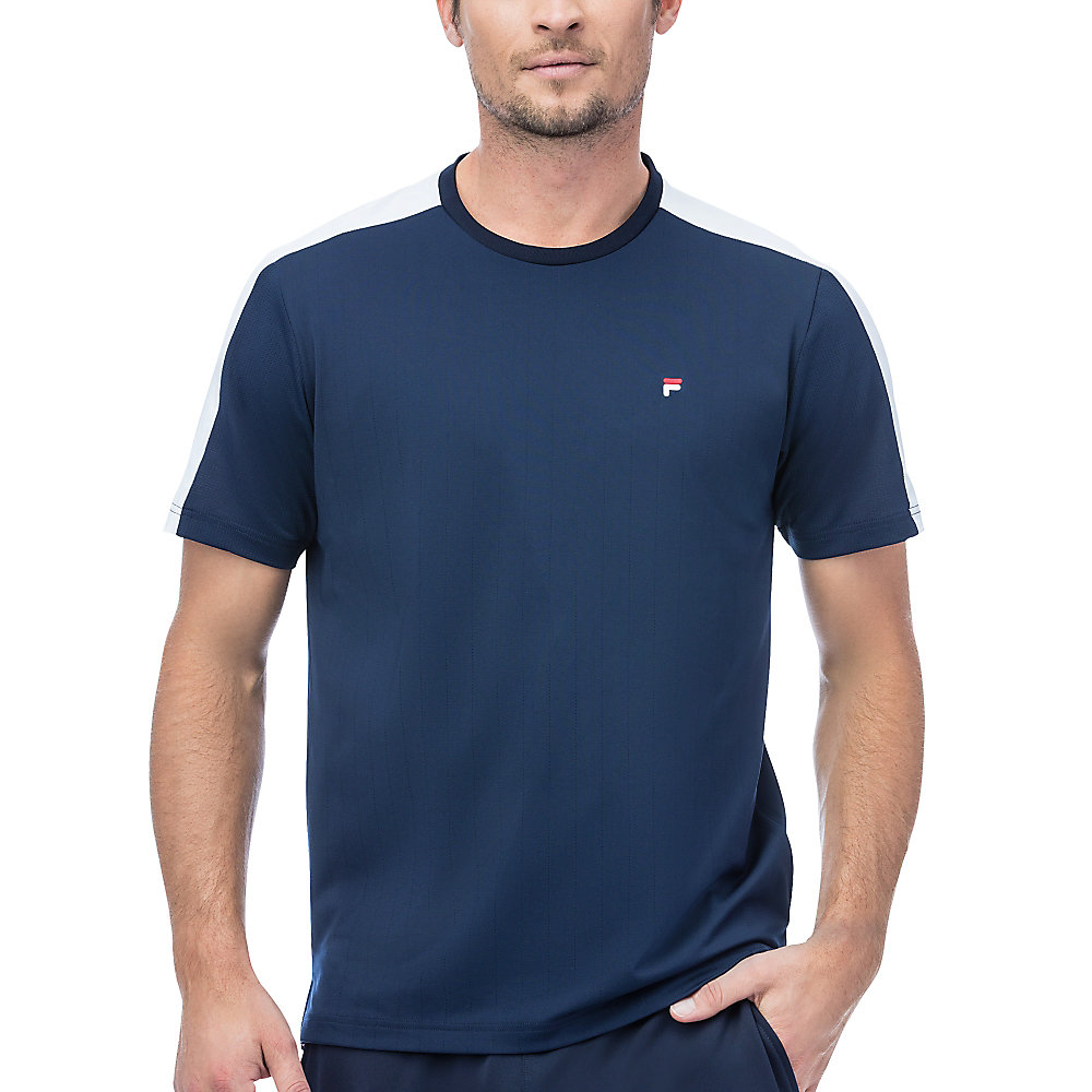 heritage mesh back crew in navy