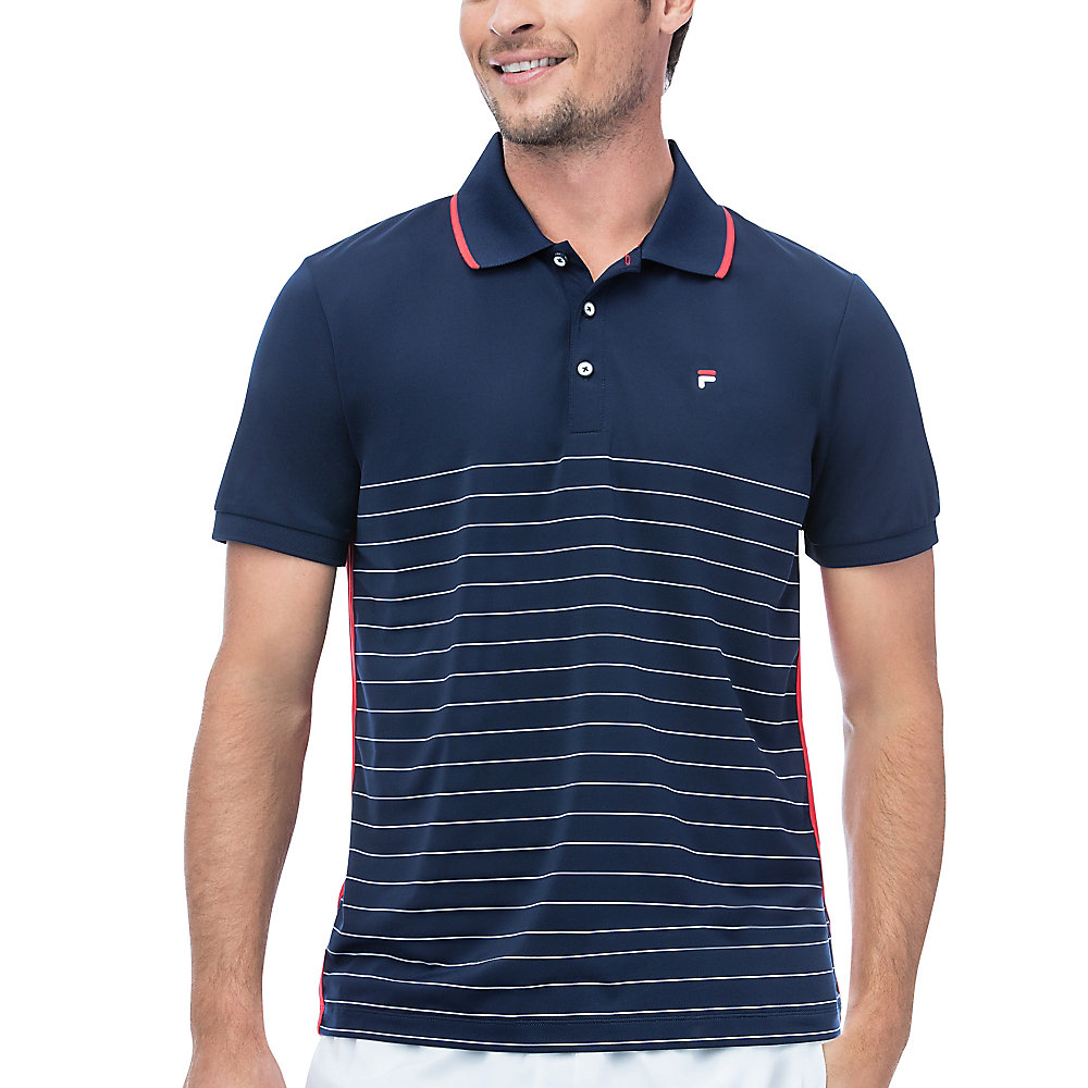 heritage polo stripe in navy