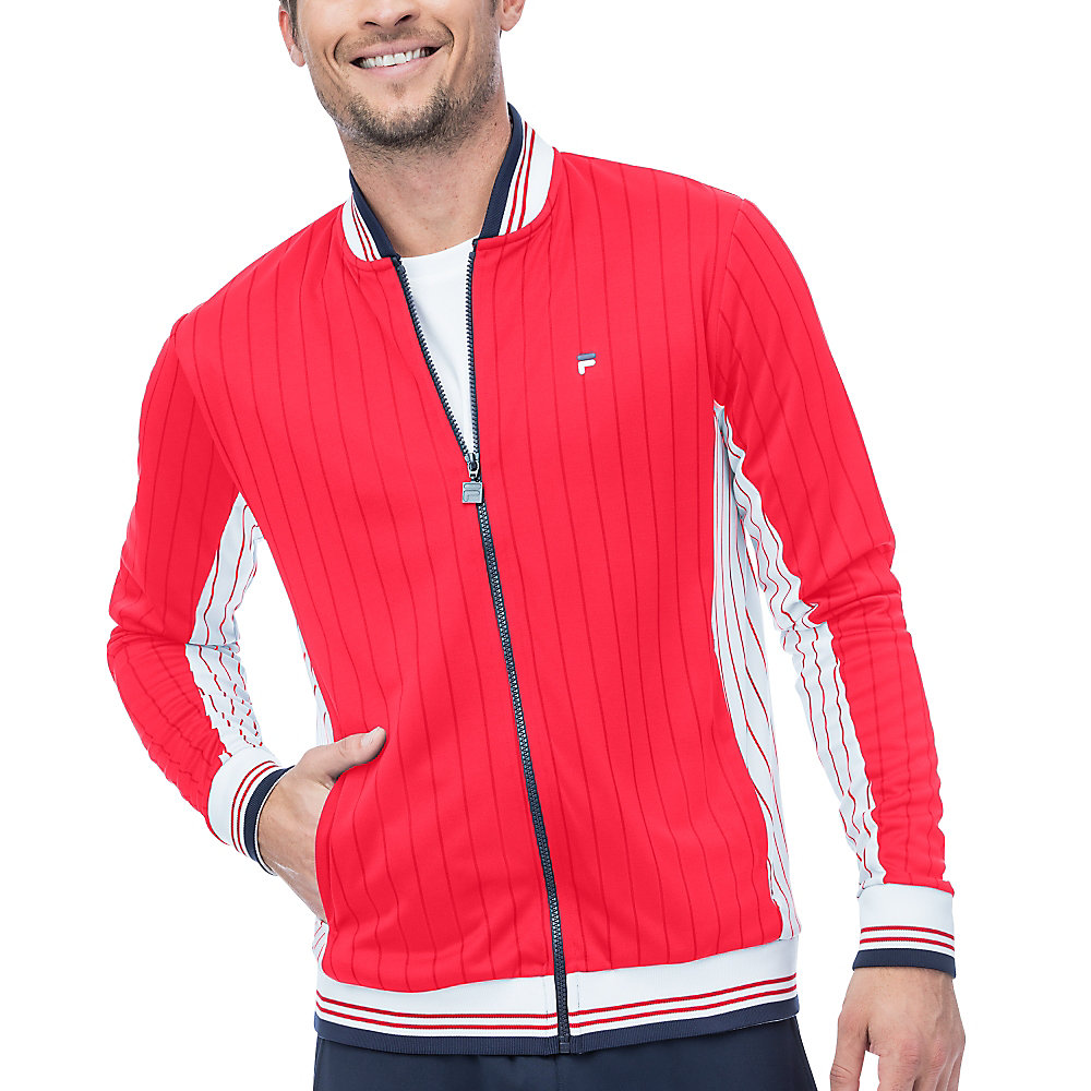 heritage jacket in red