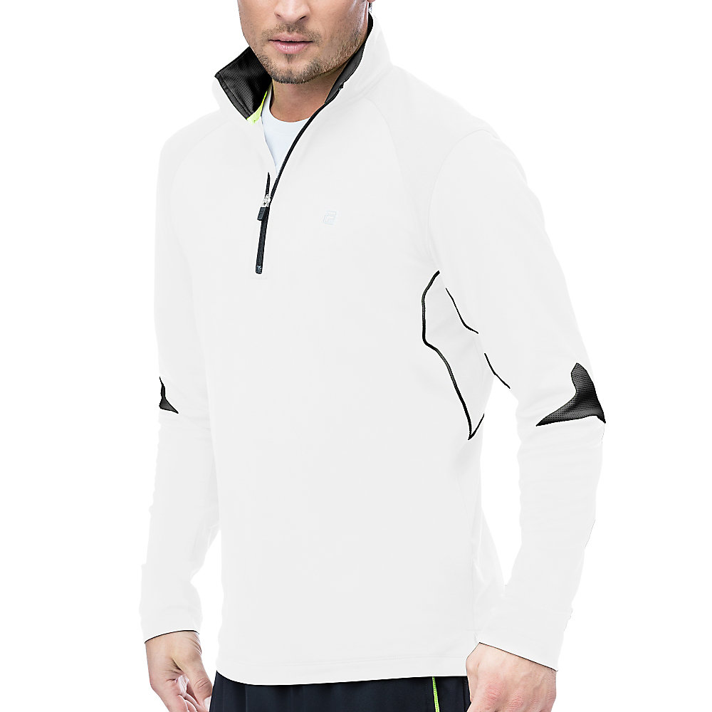 alpha quarter zip top in white