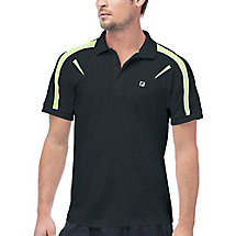 alpha polo in black
