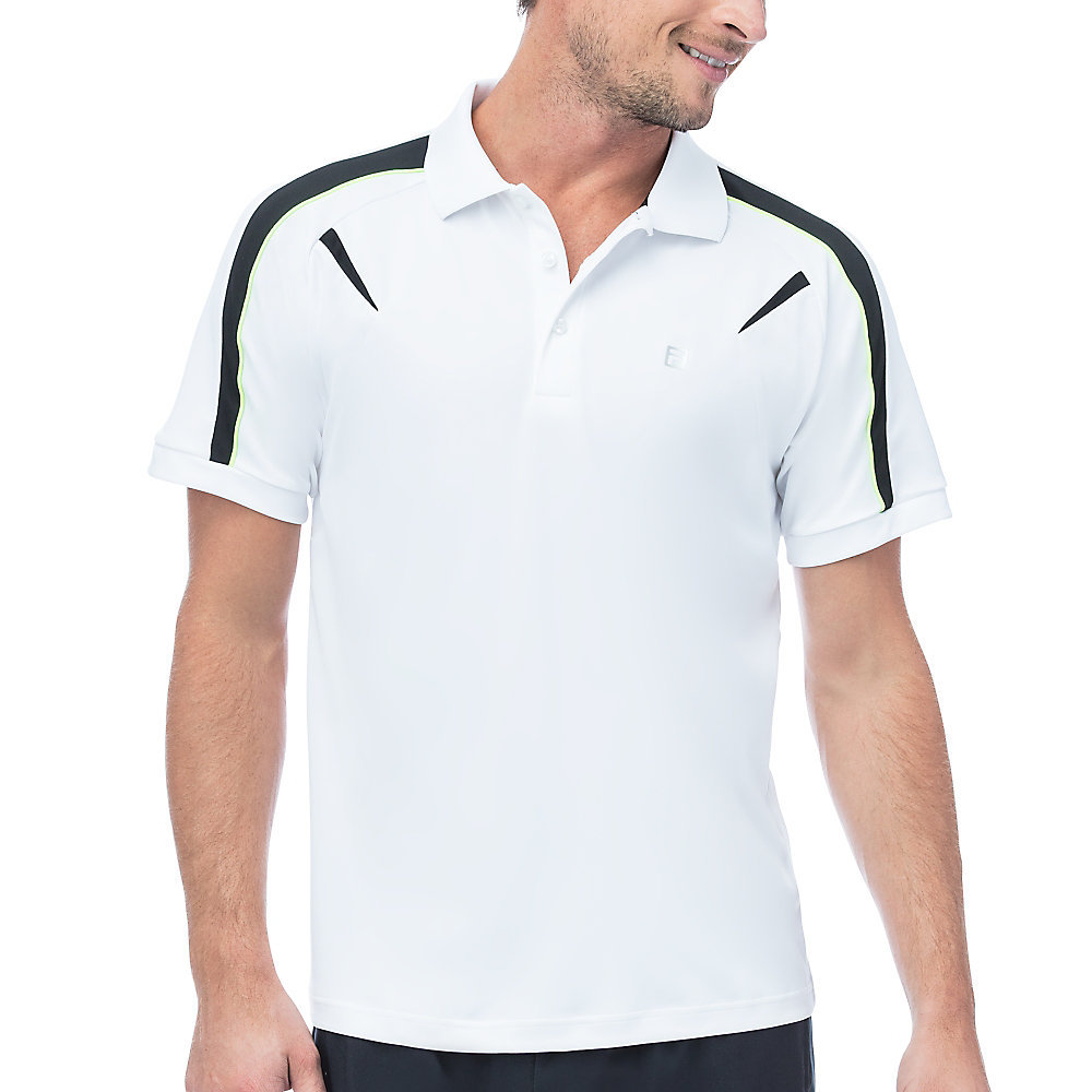 alpha polo in white