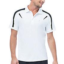 alpha polo in white