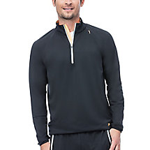 platinum quarter zip top in black