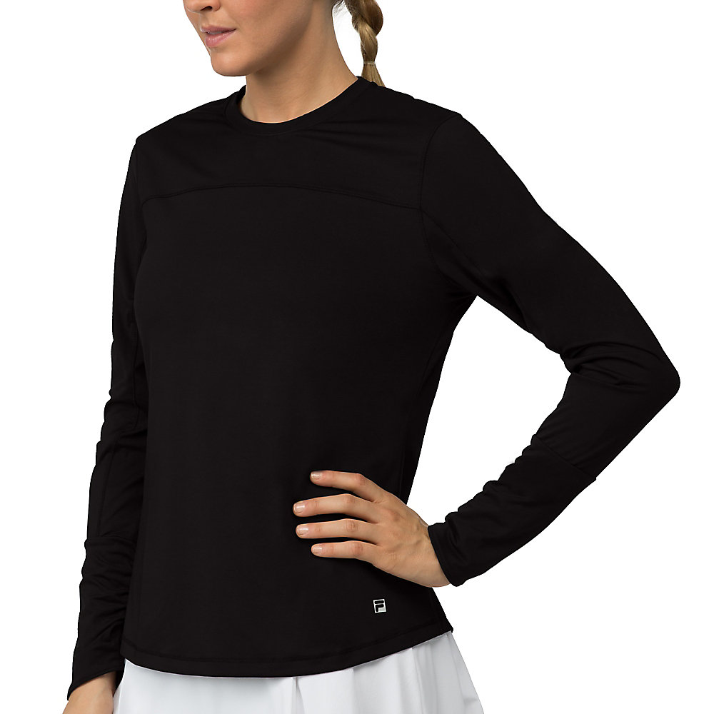 long sleeve top in jetblack