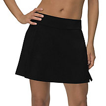 long vented skort in jetblack