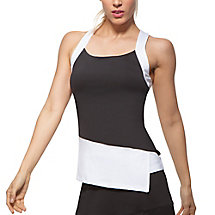 platinum asymmetrical tank in black