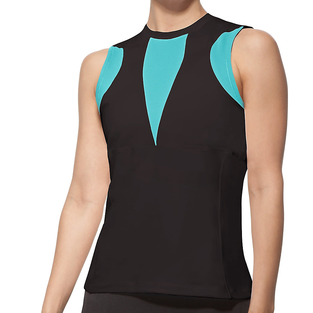 platinum full coverage tank in black