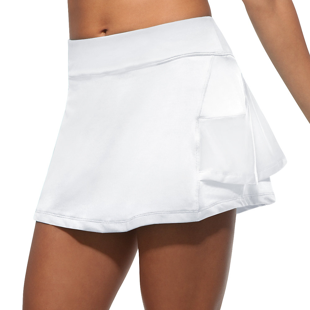 platinum ruffle skort in white