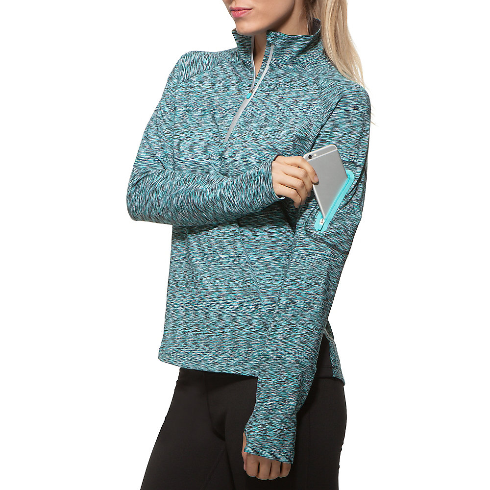 platinum quarter zip top in blueradiance