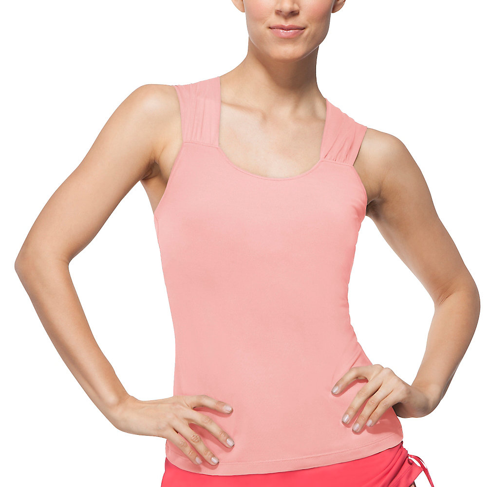 illusion sleeve tank in bleachedapricot