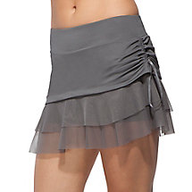 illusion tie skort in ash