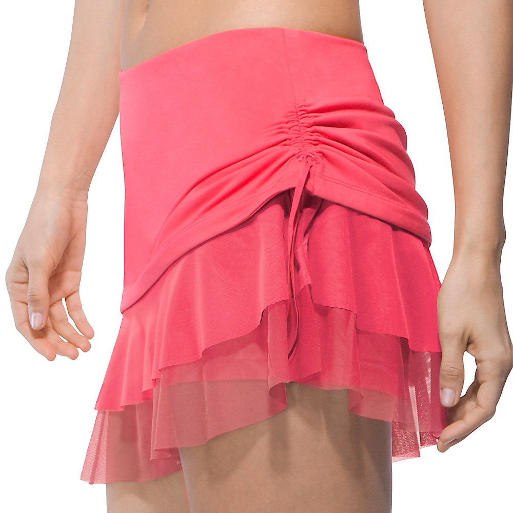 illusion tie skort in apricot