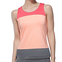 illusion colorblocked tank in bleachedapricot