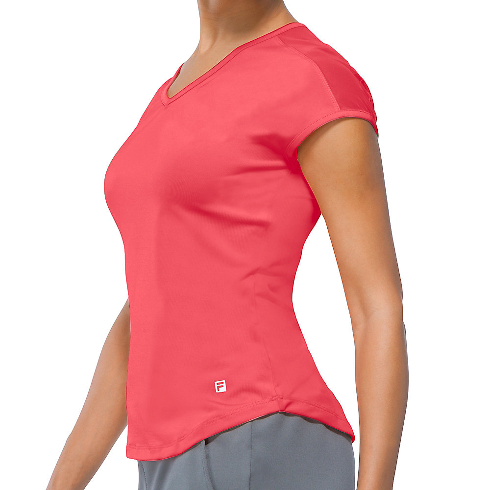 illusion cap sleeve top in apricot
