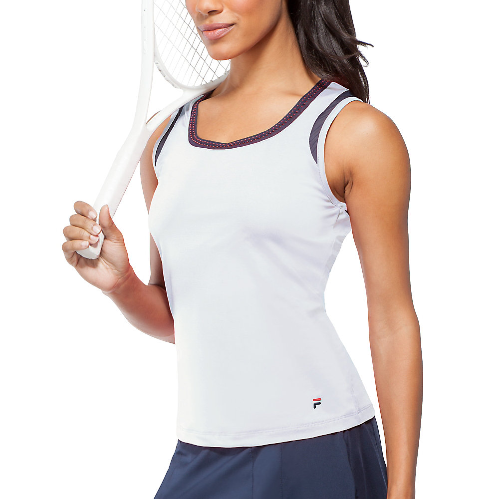heritage full coverage tank in white