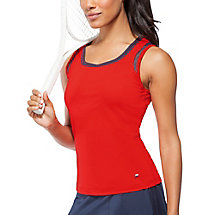 heritage full coverage tank in red