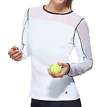 heritage long sleeve top in white