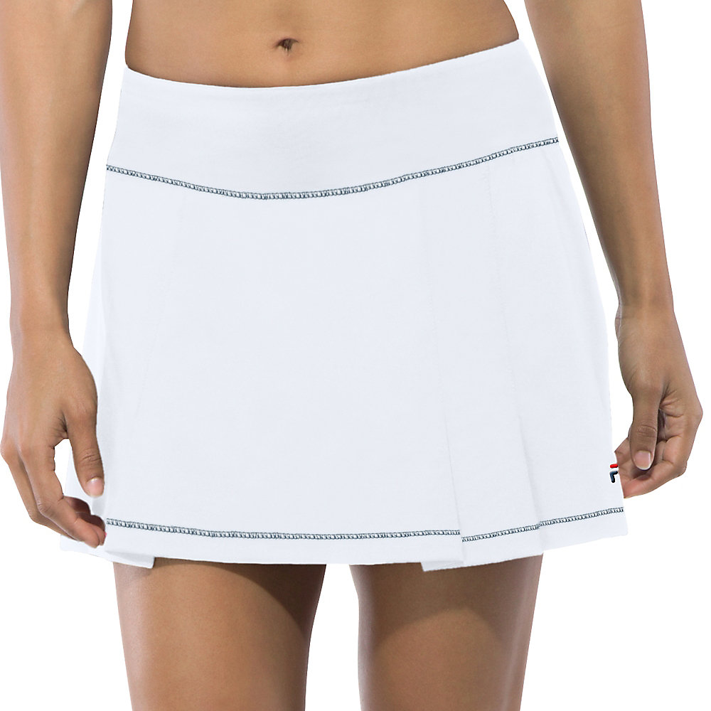 heritage pleated skort in white