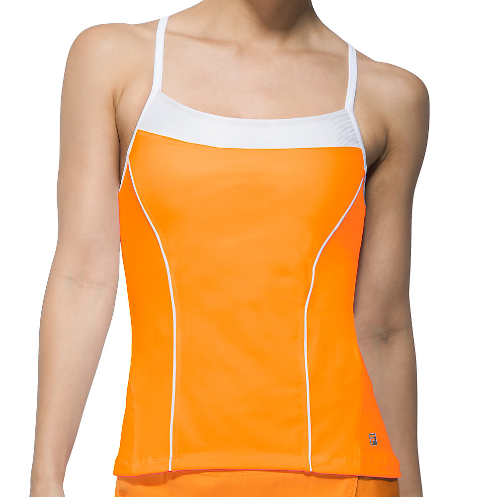 citrus bright cami tank in orange