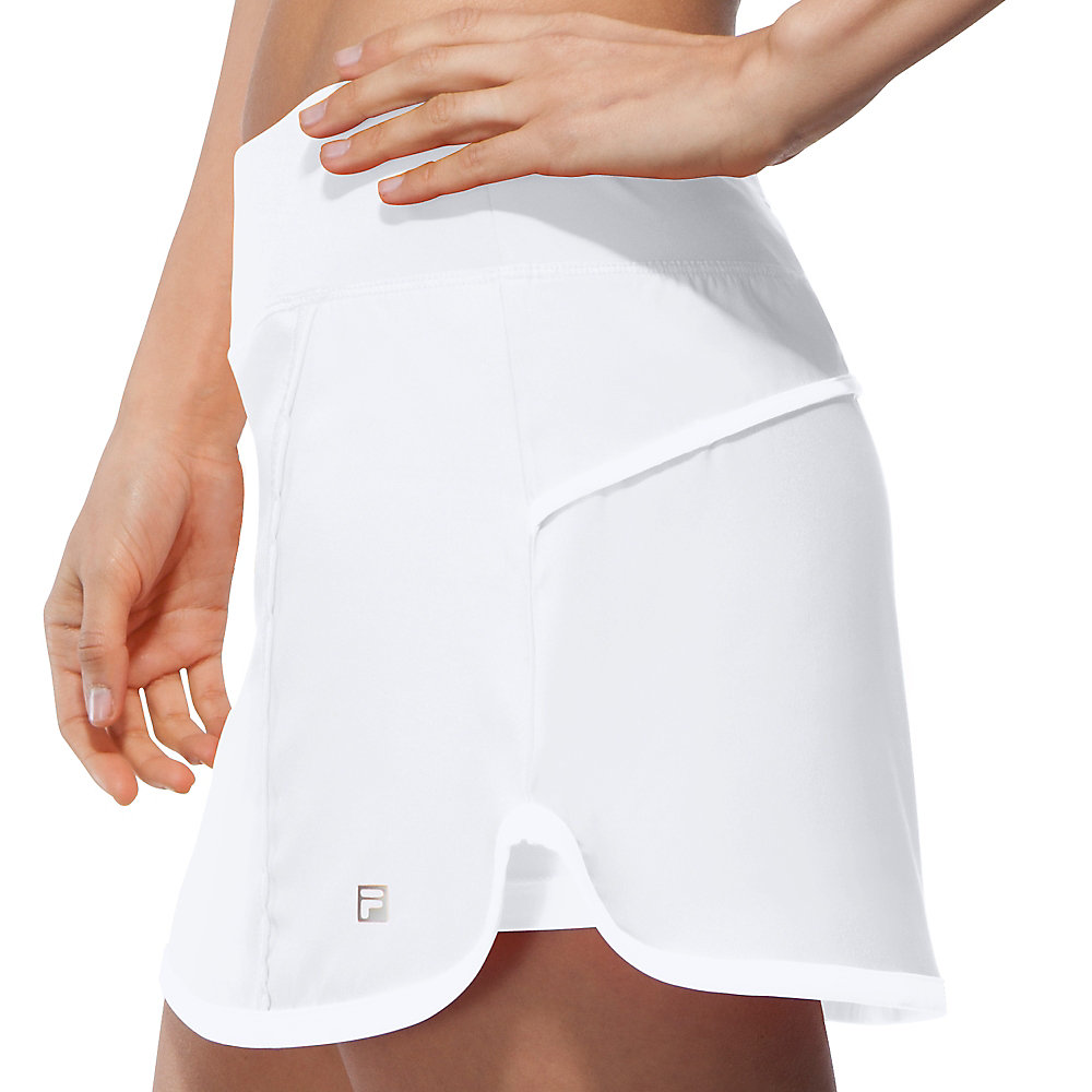 citrus bright woven skort in white