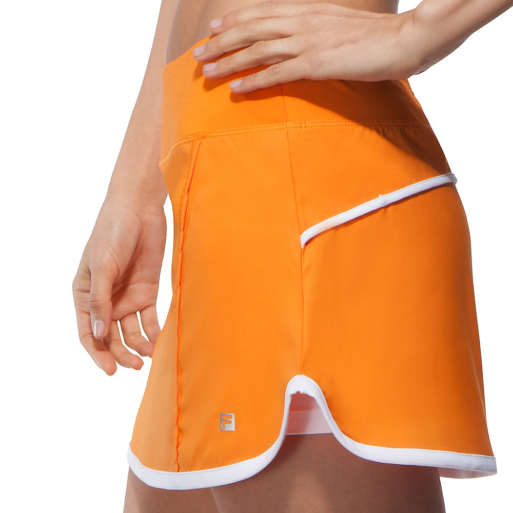 citrus bright woven skort in orange