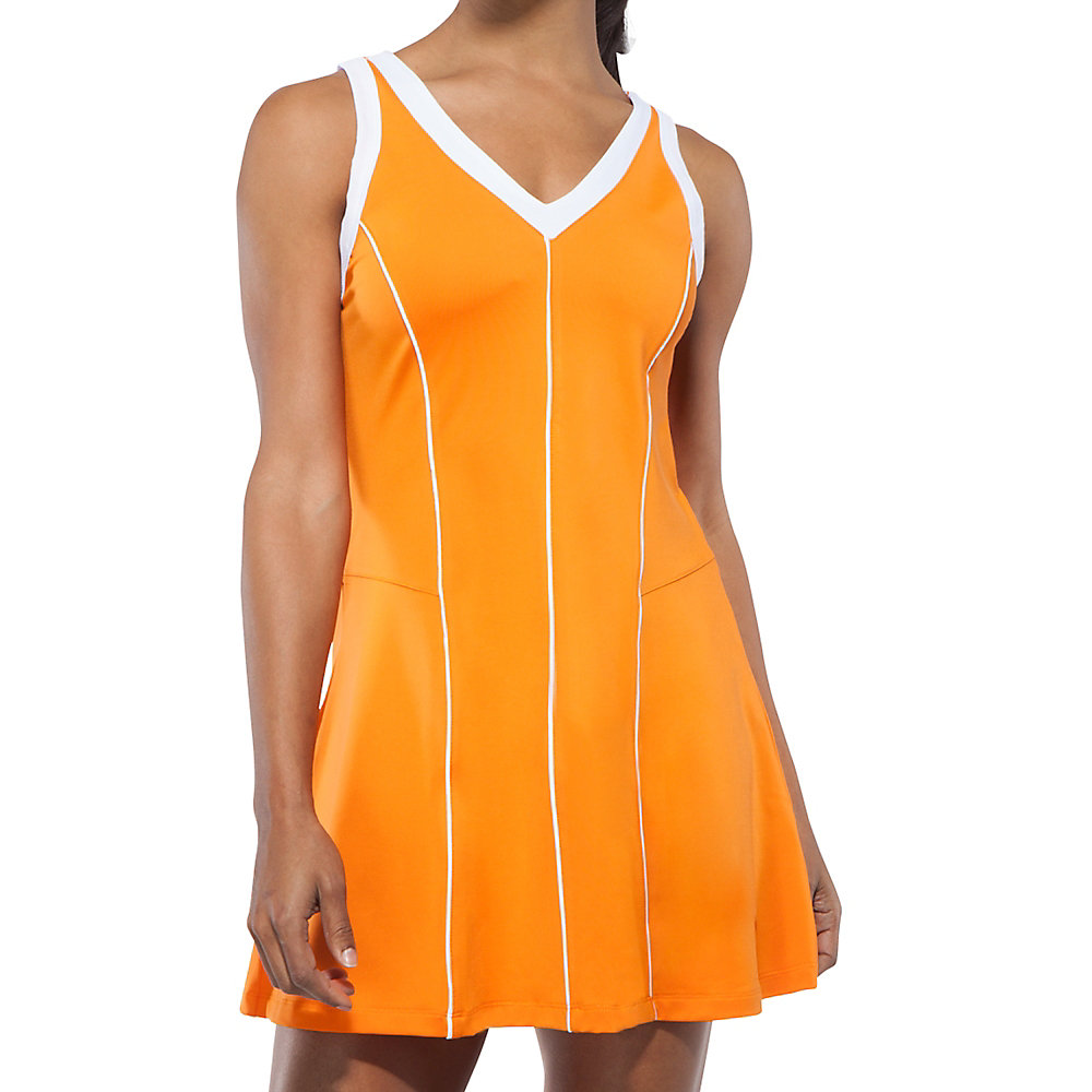 citrus bright dress in orange