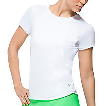 citrus bright short sleeve top in white