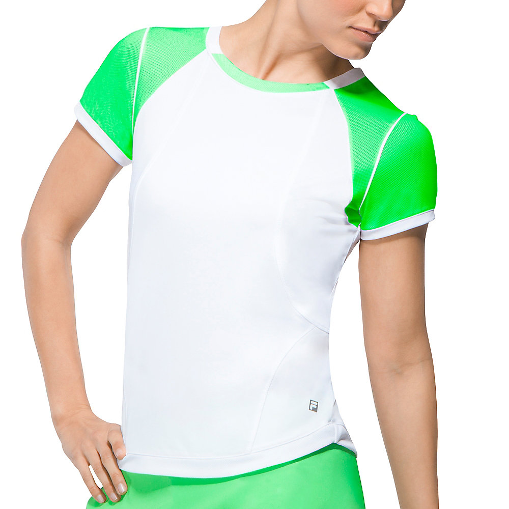 citrus bright short sleeve top in brightgreen