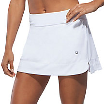 citrus bright pleated skort in white