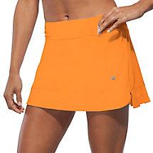 citrus bright pleated skort in orange