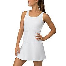 lawn dress in white