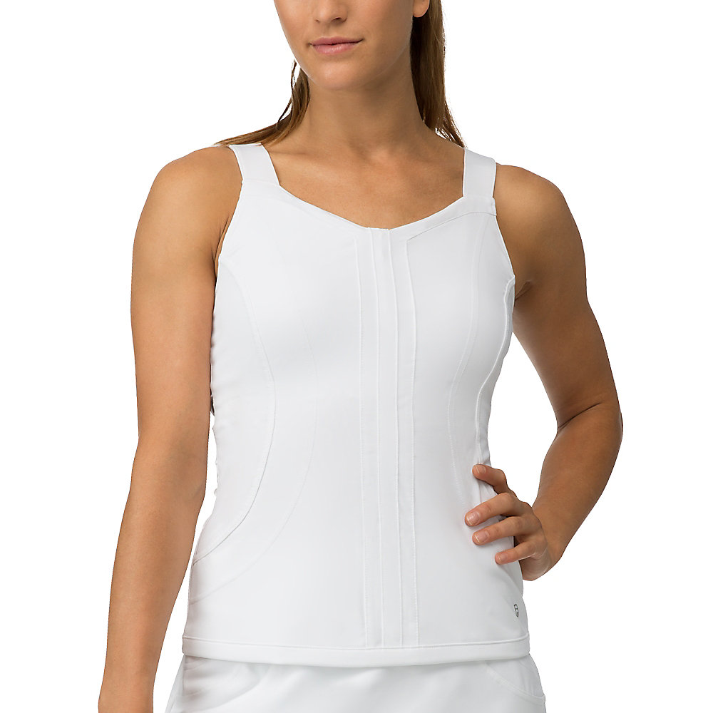 lawn cami tank in white