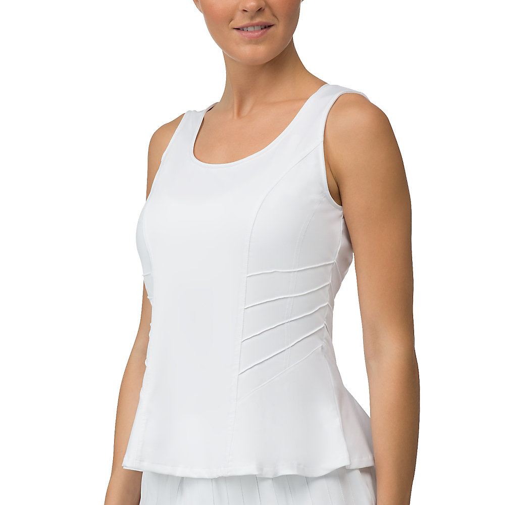 lawn full coverage tank in white