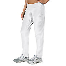 net set pant in white