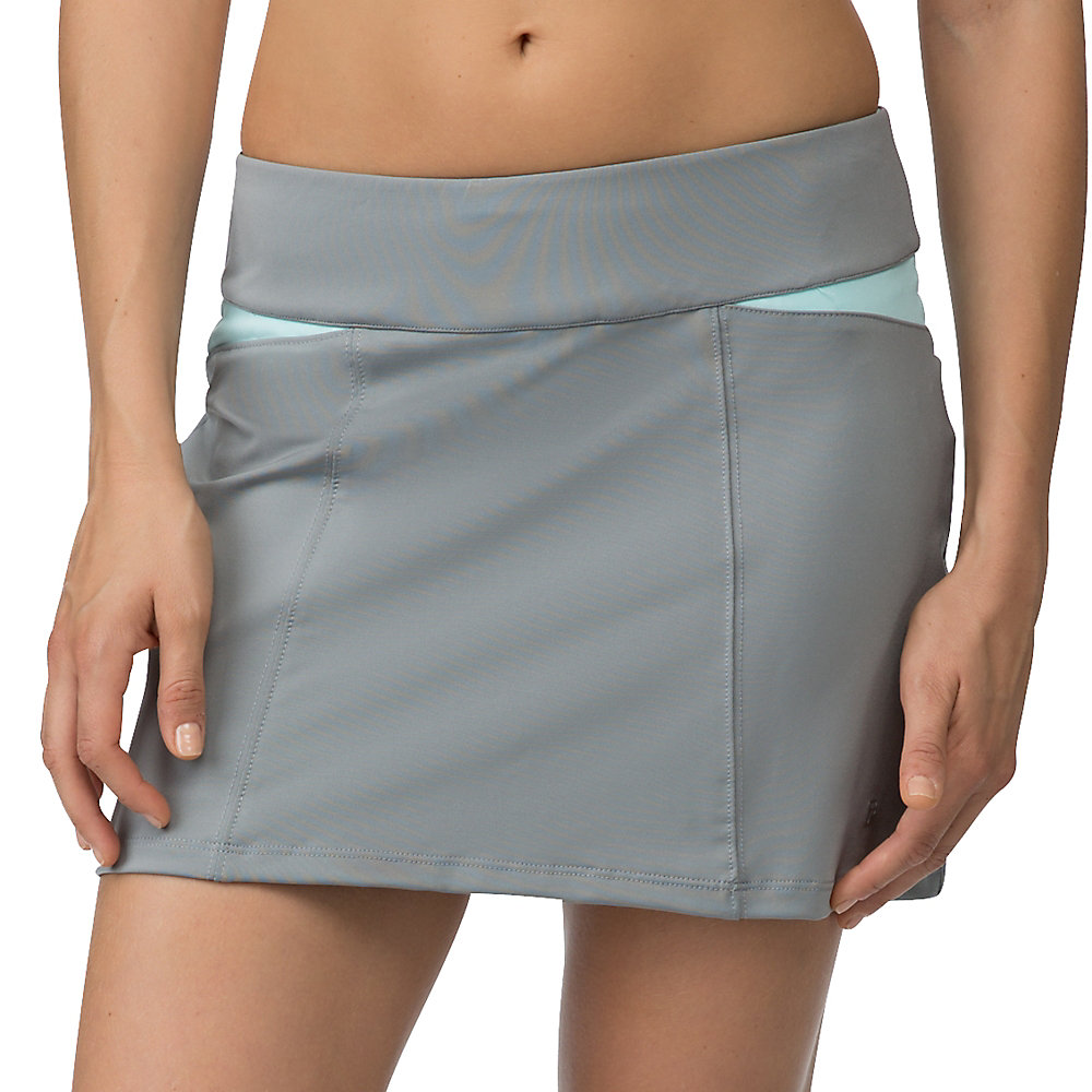 net set pleat back skort in grey