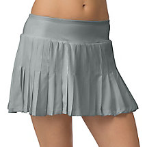net set pleated skort in grey