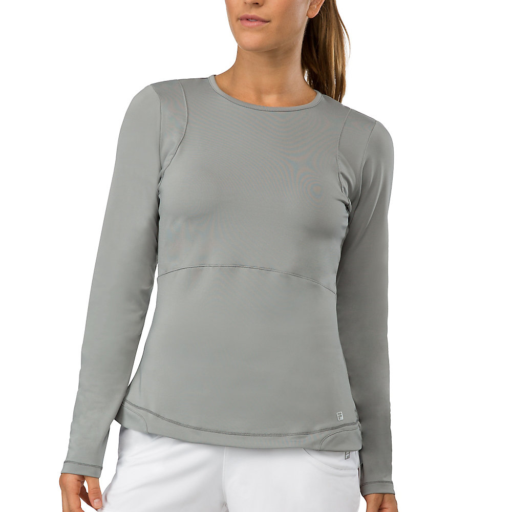 net set long sleeve top in grey