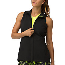 platinum vest in black