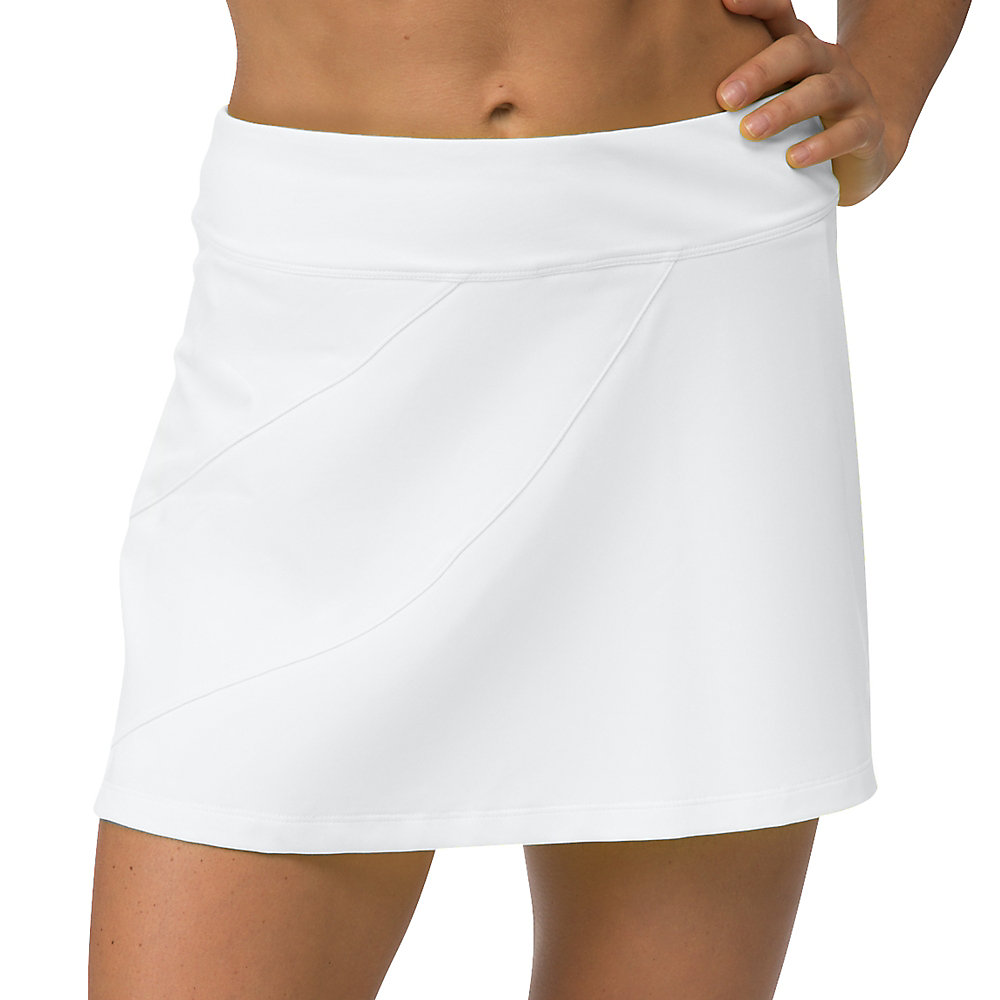platinum long skort in white