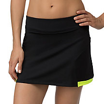 platinum skort in black