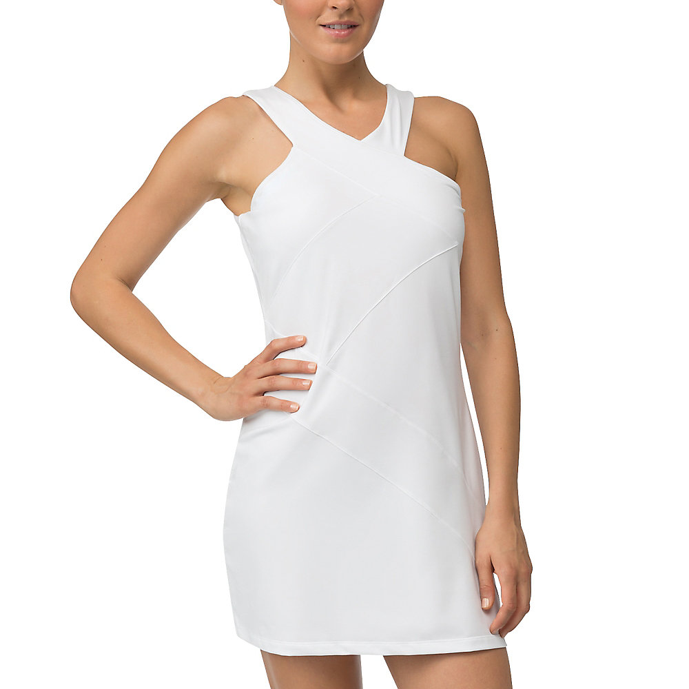 platinum dress in white