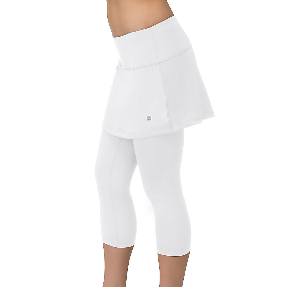 skorty capri in white