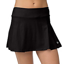 woven pleated skirt in black